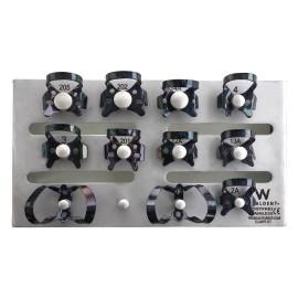 Waldent Rubber Dam Clamps Kit Titanium Black (set of 11)