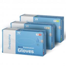 Waldent Nitrile Medical Examination Gloves- Blue