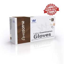 Waldent Latex Examination Gloves - Extra Large