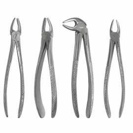 Waldent Wal-Extract Extraction Instruments Forceps Kit of 12