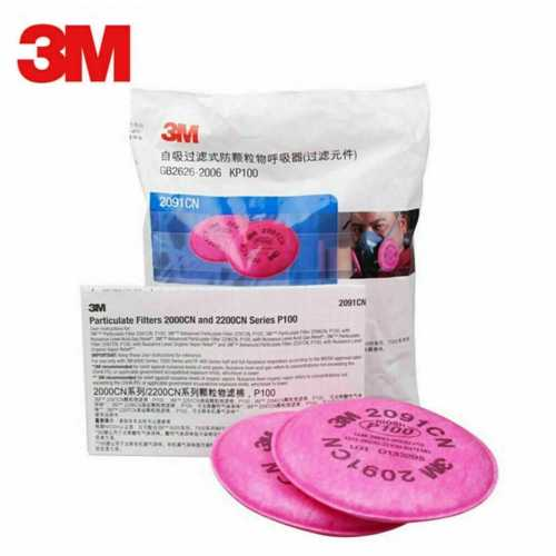 3M 2091CN NIOSH P100 Filters (Pack of 2) for: 3M 6200 FaceMask