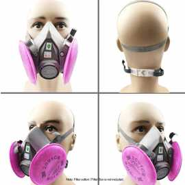 3M 6200 Respirator FaceMask With 2091 P100 Filters