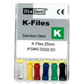 Diadent Stainless Steel K-File 25mm