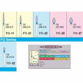Mani Diamond Burs - Flame Ogival End / Fo Series