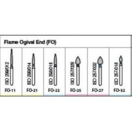 Oro Fg Diamond Burs Flame Ogival End (Fo) Series