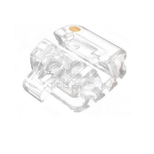 ECC IRISH Clear Self Ligating Bracket 022-5x5 U/L KIT (Demon type)