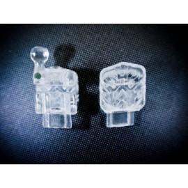Ortho Classic H4-Go Clear Self Ligating Bracket 022-5x5 U/L KIT - Demon Type*