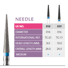 Prima Dental Needle Bur (Pack Of 5 Burs)