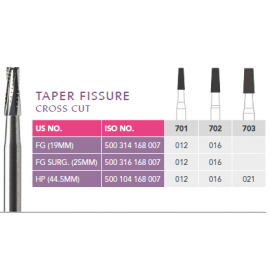 Prima Dental Taper Fissure Bur (Cross Cut)
