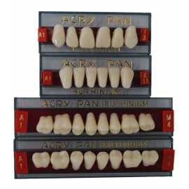 Ruthinium Acry Pan acrylic teeth (Pk /4 sets of 28)