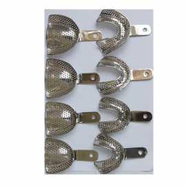 VeeCare  Impression Tray Edentulous Perforated ( Set of 8)